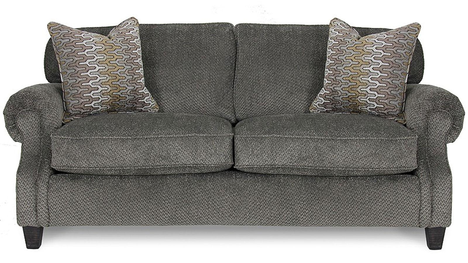 Emerson Pewter Full Sleeper Sofa | Gallery Furniture Within Sofas (Image 4 of 20)