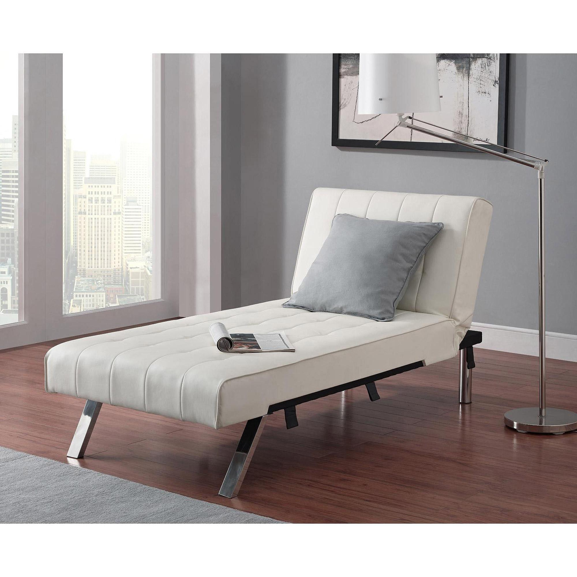 Emily Futon Chaise Lounger, Multiple Colors – Walmart Intended For Emily Sofas (View 19 of 20)
