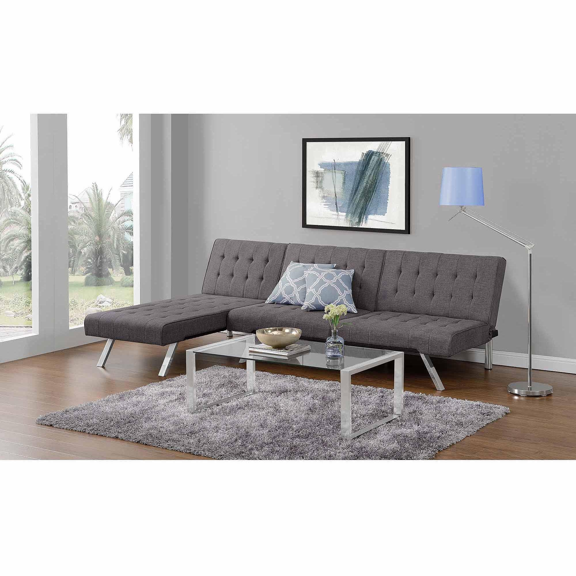 Emily Futon Chaise Lounger, Multiple Colors – Walmart Pertaining To Emily Sofas (View 3 of 20)