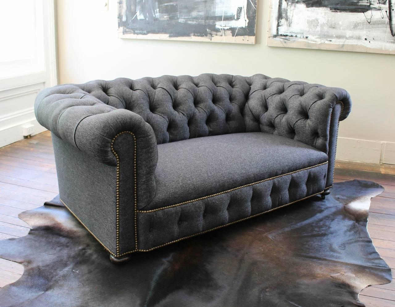English Chesterfield Loveseat At 1Stdibs Throughout Denim Loveseats (Image 11 of 20)