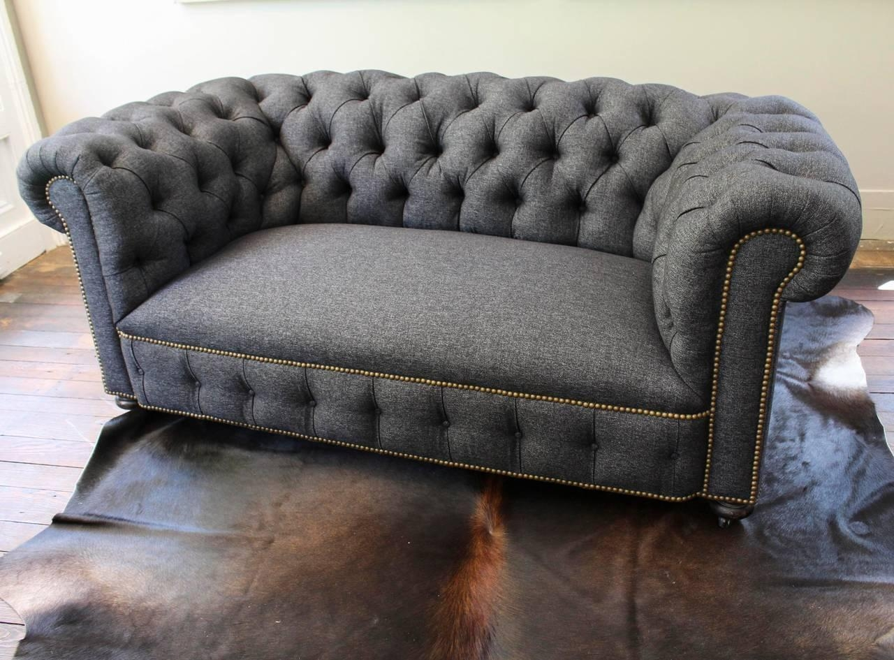 English Chesterfield Loveseat At 1Stdibs Within Denim Loveseats (Image 12 of 20)