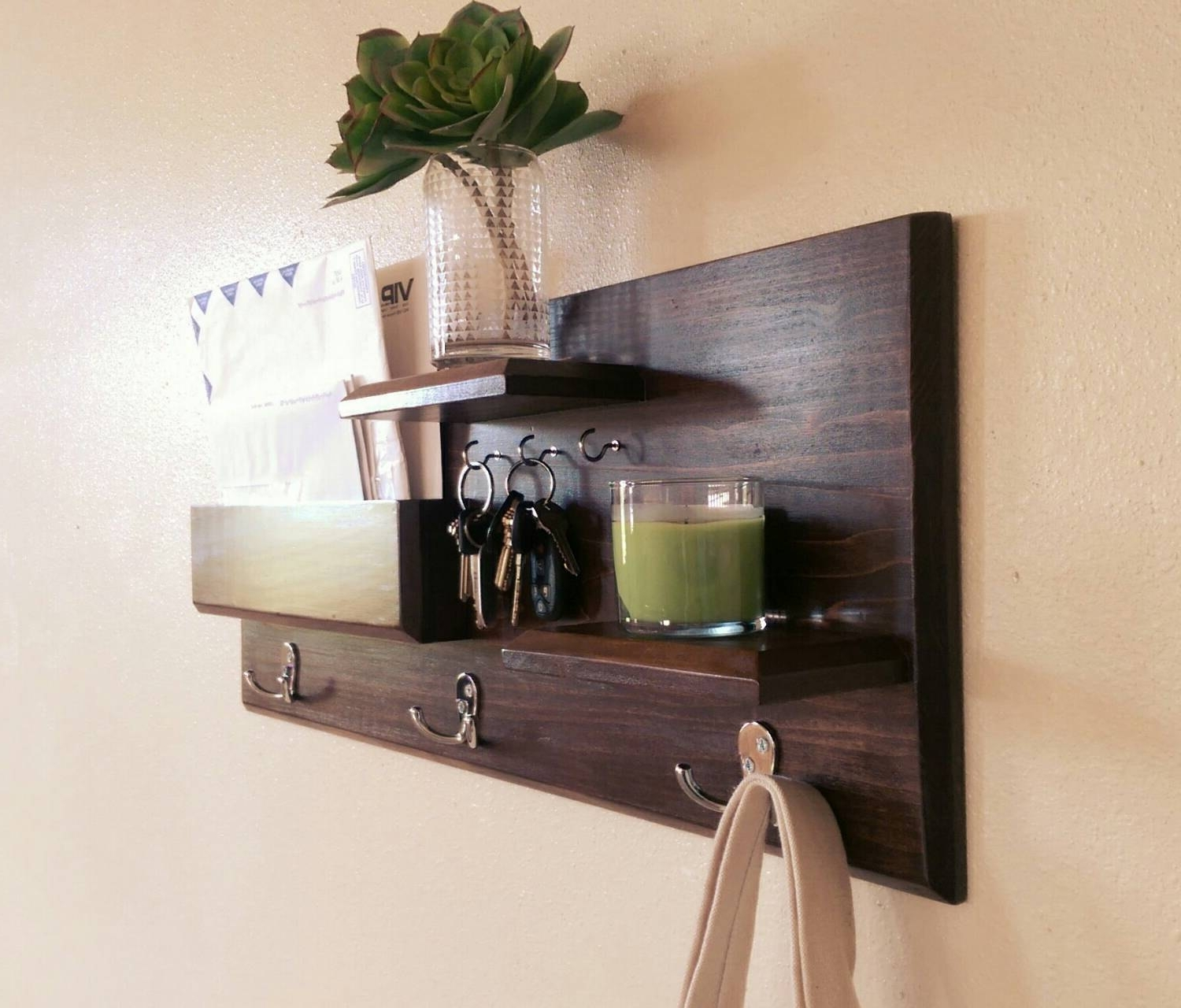 Entryway Organizer Coat Rack Mail Storage Coat Hooks And Key Inside Coat Racks For Your Entryway (View 3 of 8)
