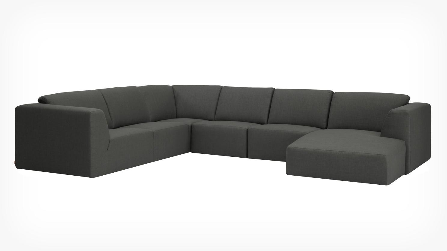 Eq3 | Morten 6 Piece Sectional Sofa With Chaise – Fabric Intended For 6 Piece Sectional Sofas Couches (View 5 of 20)