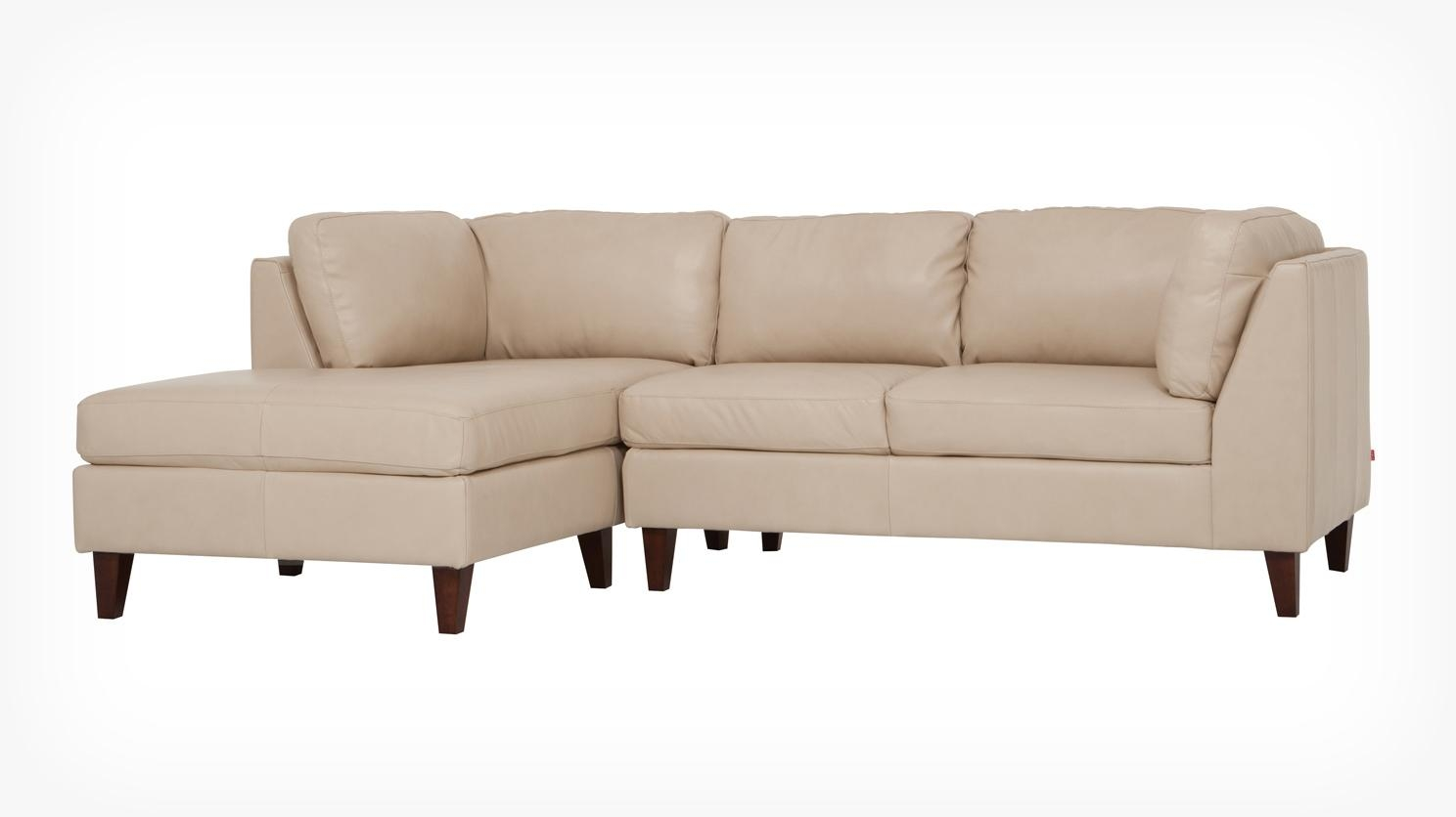 Eq3 | Salema 2 Piece Sectional Sofa With Chaise – Leather With Small 2 Piece Sectional (Image 9 of 20)