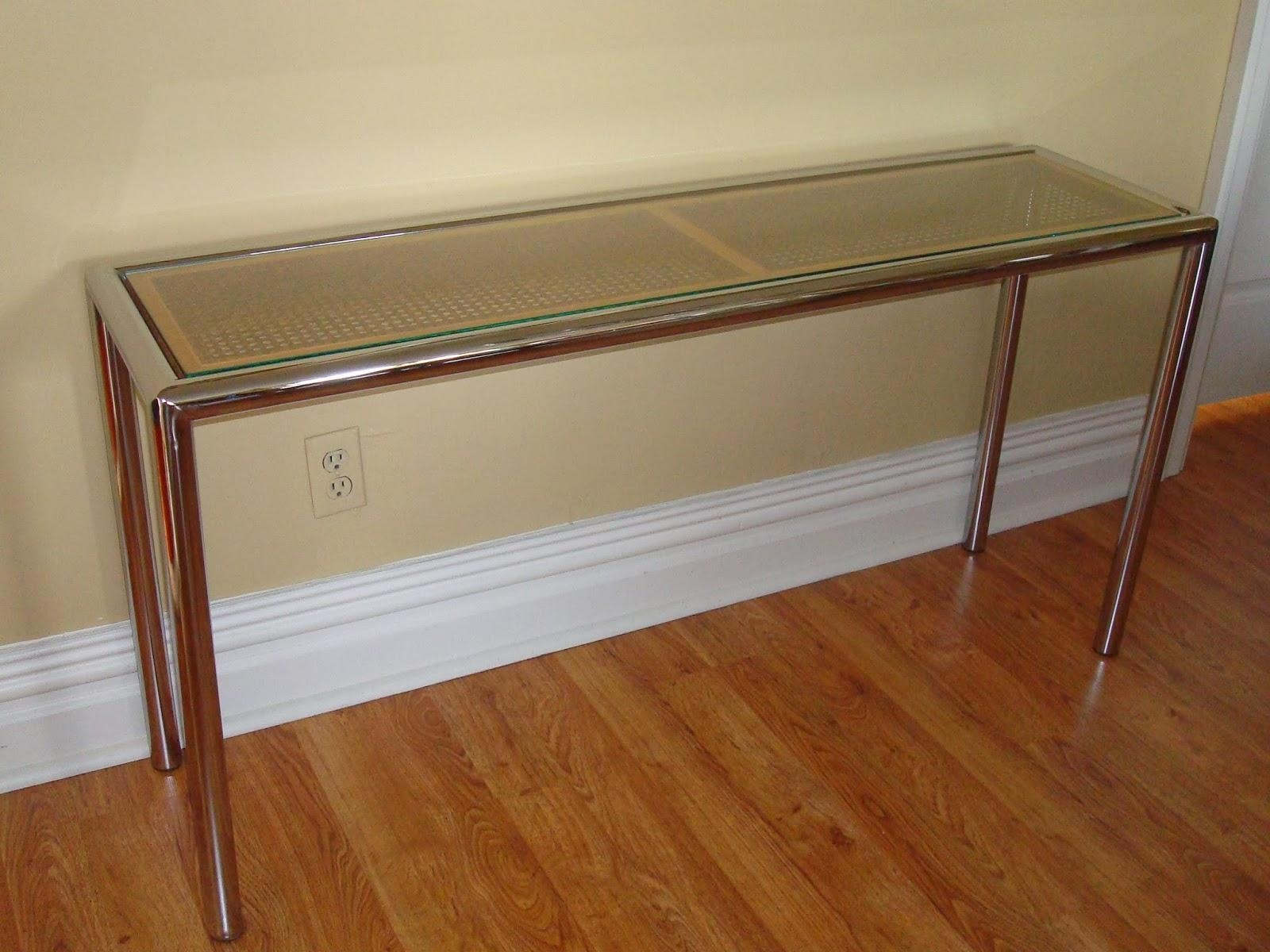 Era Antiques: 1970´s Milo Baughman Tubular Chrome Sofa/console Table Inside Chrome Sofa Tables (Image 7 of 20)