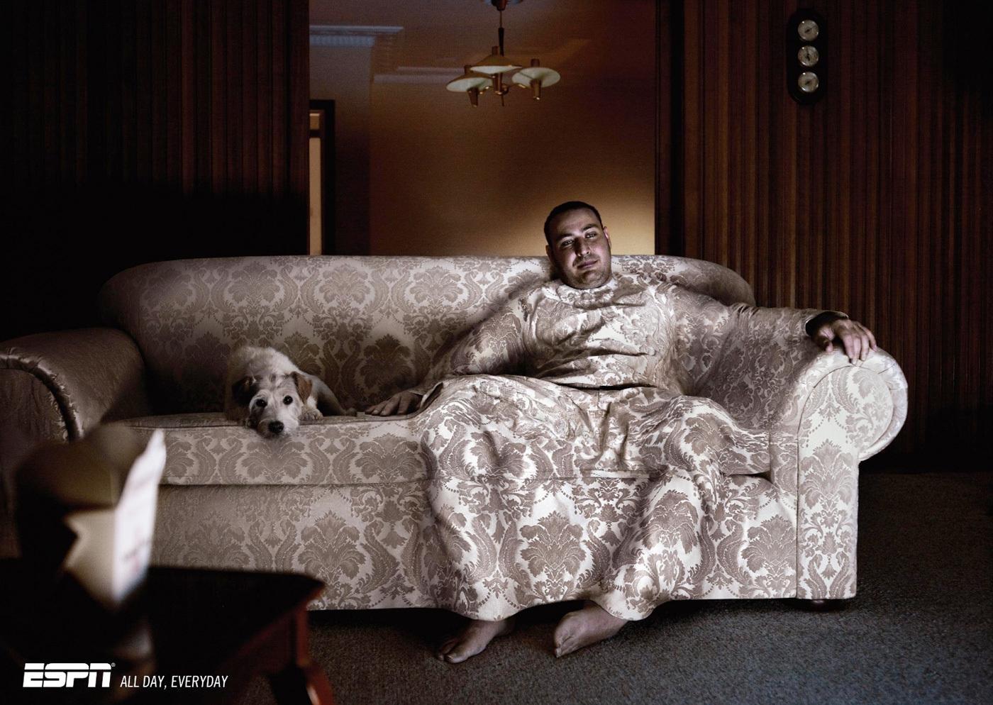 Espn: Brocade Couch – Print (Image) – Creativity Online Regarding Brocade Sofas (Image 15 of 20)