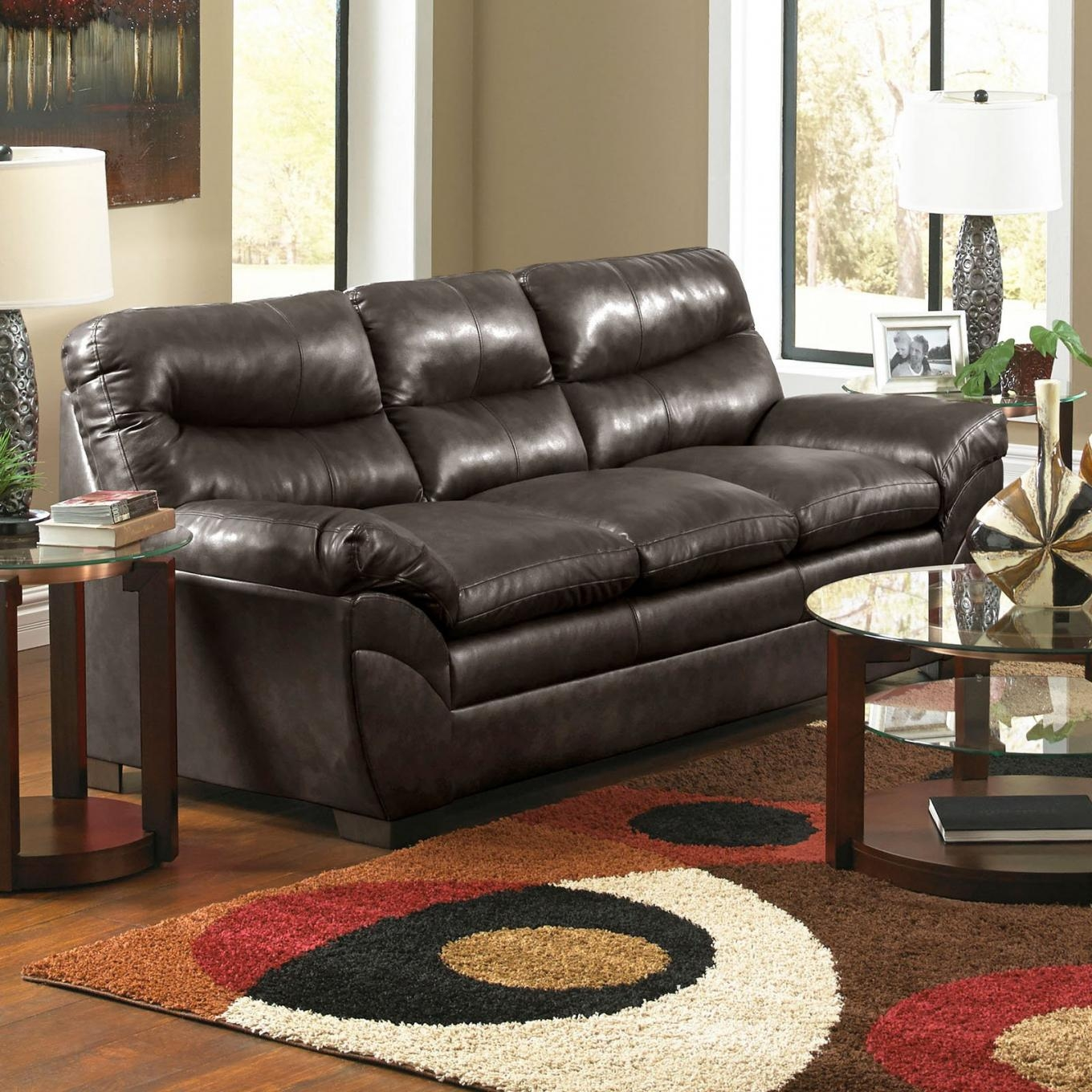 Espresso Leather Sofa Intended For Simmons Bonded Leather Sofas (View 19 of 20)