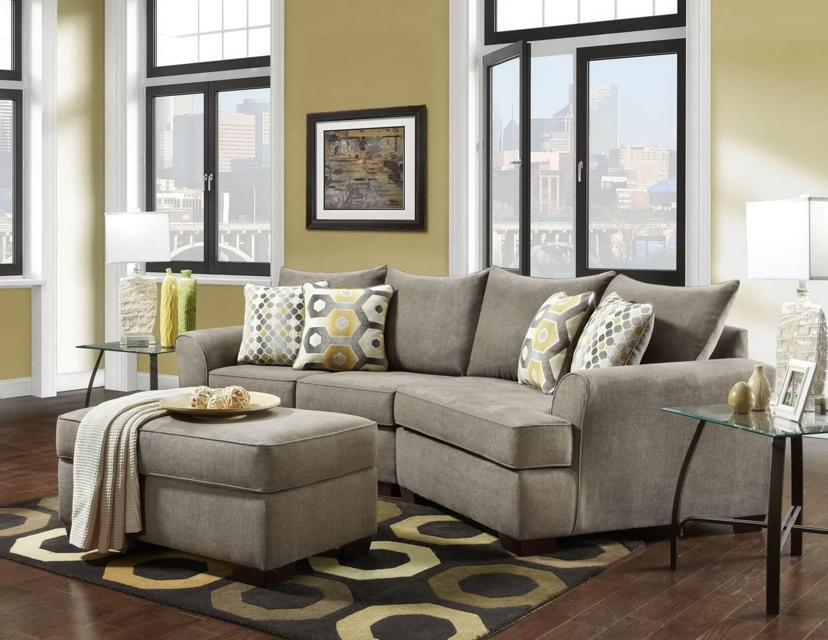 Essence Platinum 3 Pc Cuddler Sectional | Sectional Sofa Sets With Cuddler Sectional Sofa (Image 7 of 15)