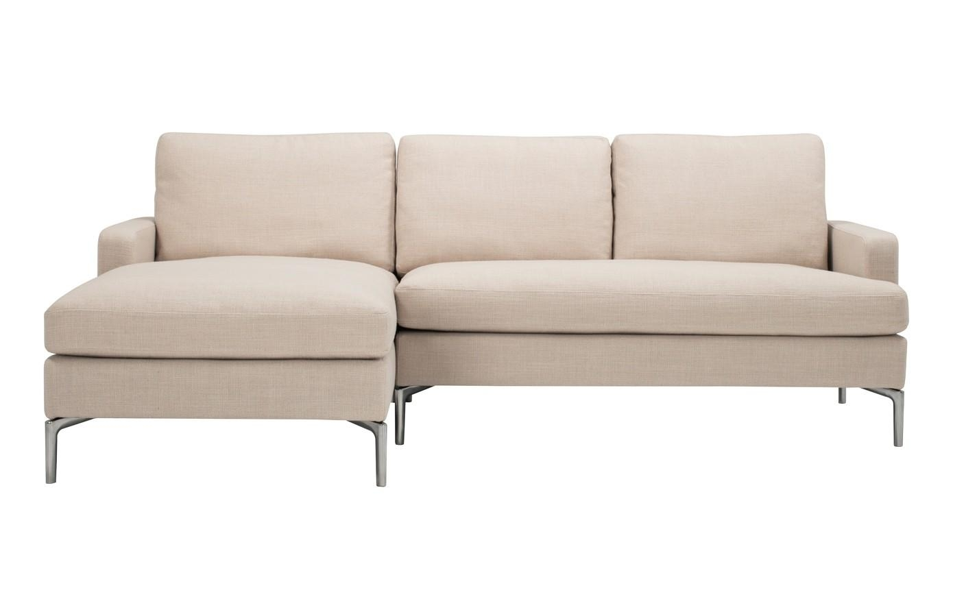 Eve Fabric 2 Piece Sectional Sofa With Chaise | Viesso Pertaining To Sectional Sofa With 2 Chaises (Image 15 of 20)