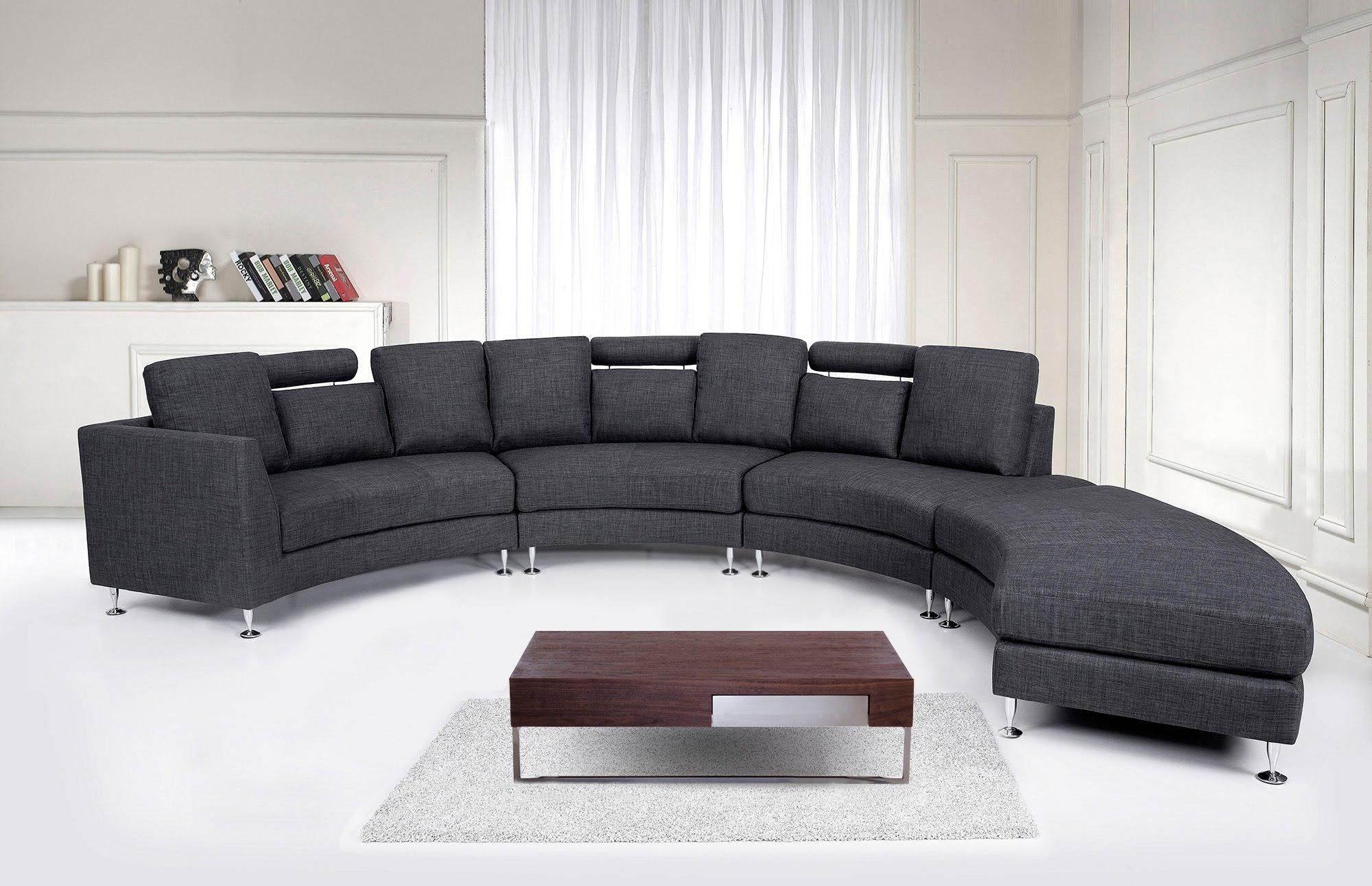 Excellent Rounded Sofa Bed #4727 Within Rounded Sofa (Image 5 of 20)
