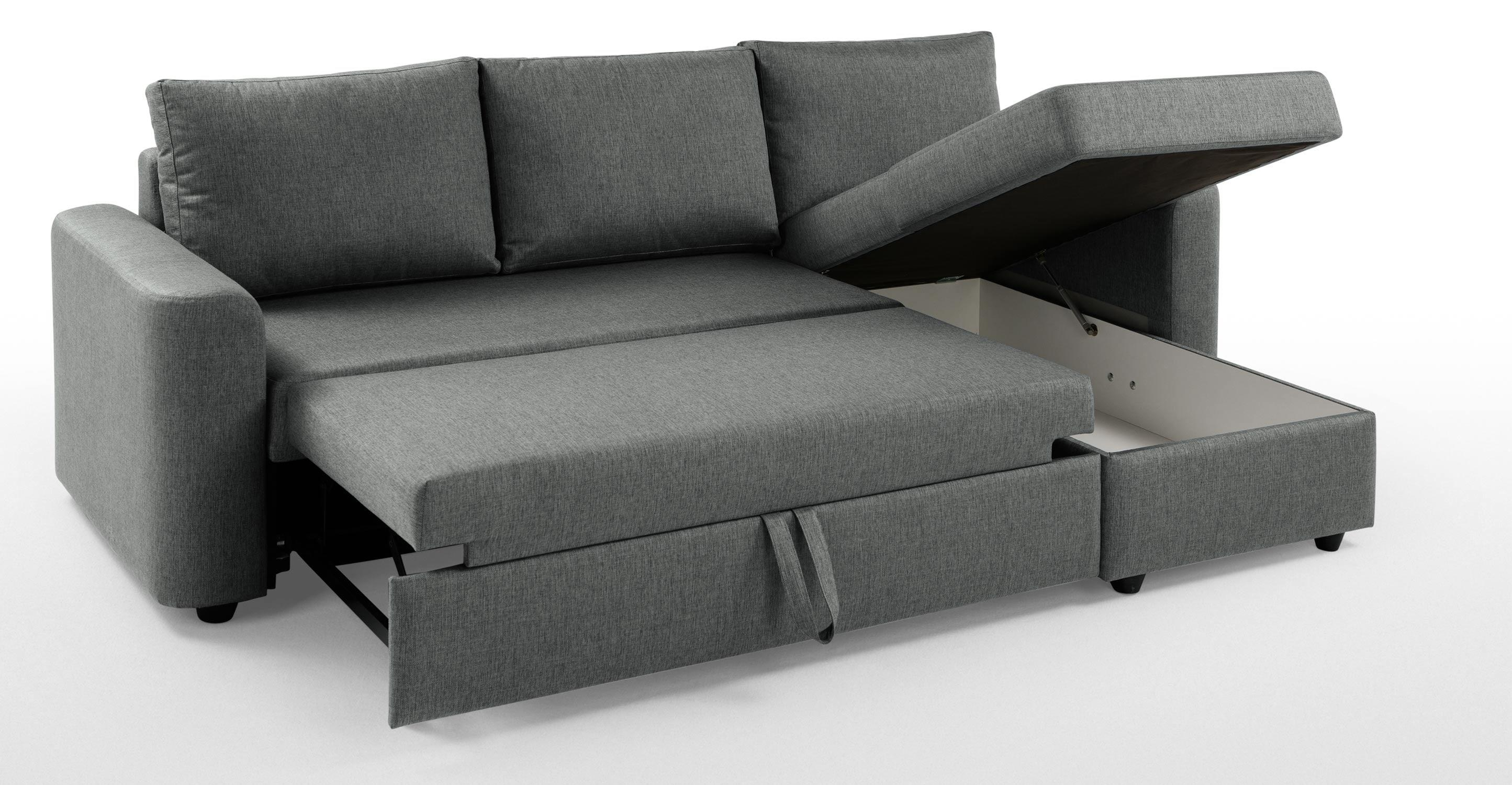 Exellent Sofa Bed With Storage Seater Leather Chaise E Throughout In Sofa Beds With Storage Chaise (Image 5 of 20)