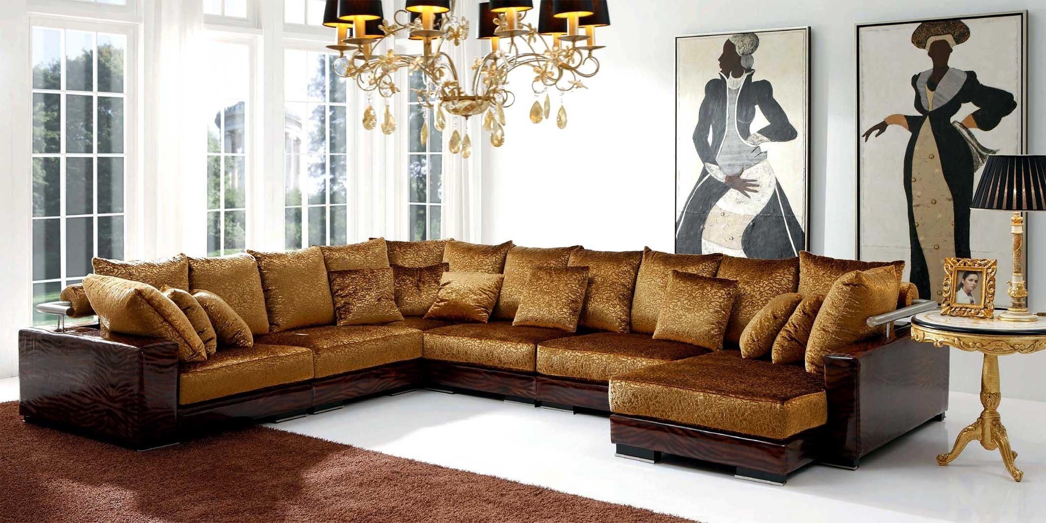 Expensive Sectional Sofas – Leather Sectional Sofa Intended For Gold Sectional Sofa (Image 5 of 15)