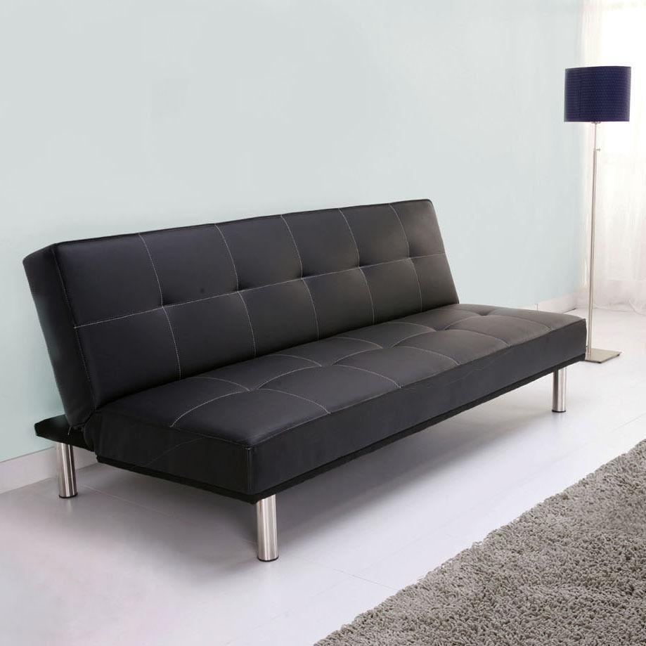 Exquisite Small Leather Sofa Bed Small Leather Couch 2 Seater With Regard To Small Black Sofas (Image 4 of 20)