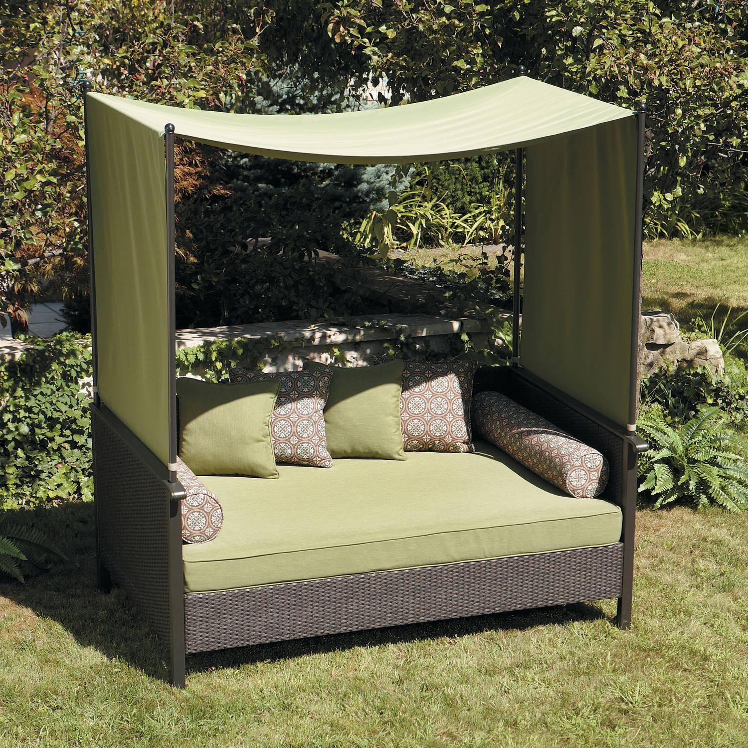 Exterior : Awesome Outdoor Lounge Bed Furniture With Red Canopy In Outdoor Sofas With Canopy (Image 6 of 20)