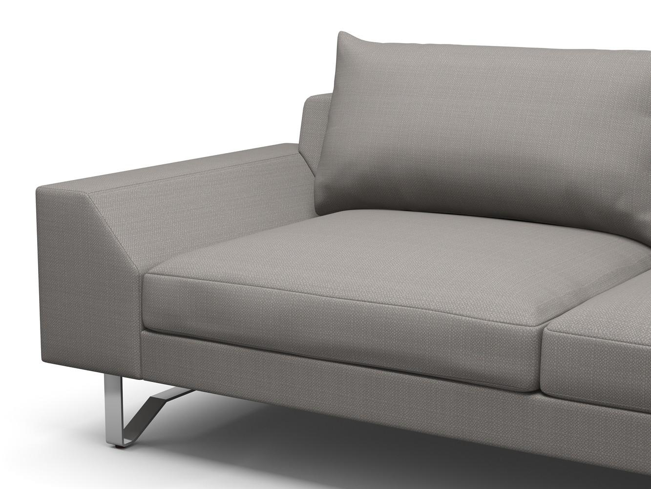 Extra Deep One Cushion Sofa In Tan With Deep Cushion Sofa Image 11 Within One Cushion Sofas (Image 4 of 20)