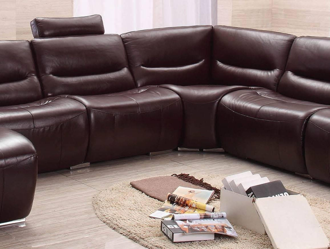 Extra Large Spacious Italian Leather Sectional Sofa In Brown San Intended For Huge Leather Sectional (Image 2 of 20)