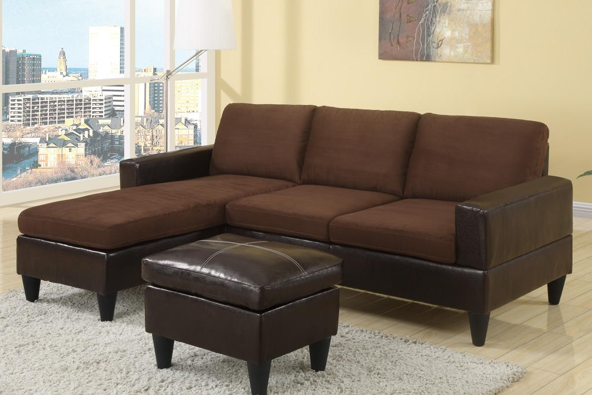 F7291 Bobkona Mini/ Studio Sectional Sofa Poundex Los Angeles Intended For Mini Sectionals (Image 3 of 20)