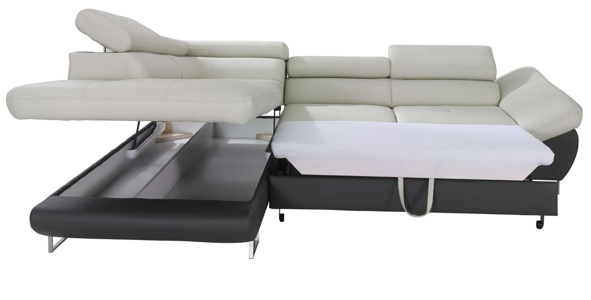 Fabio Sectional Sofa Sleeper With Storage, Creative Furniture In Sectional Sofa Bed With Storage (Image 6 of 20)