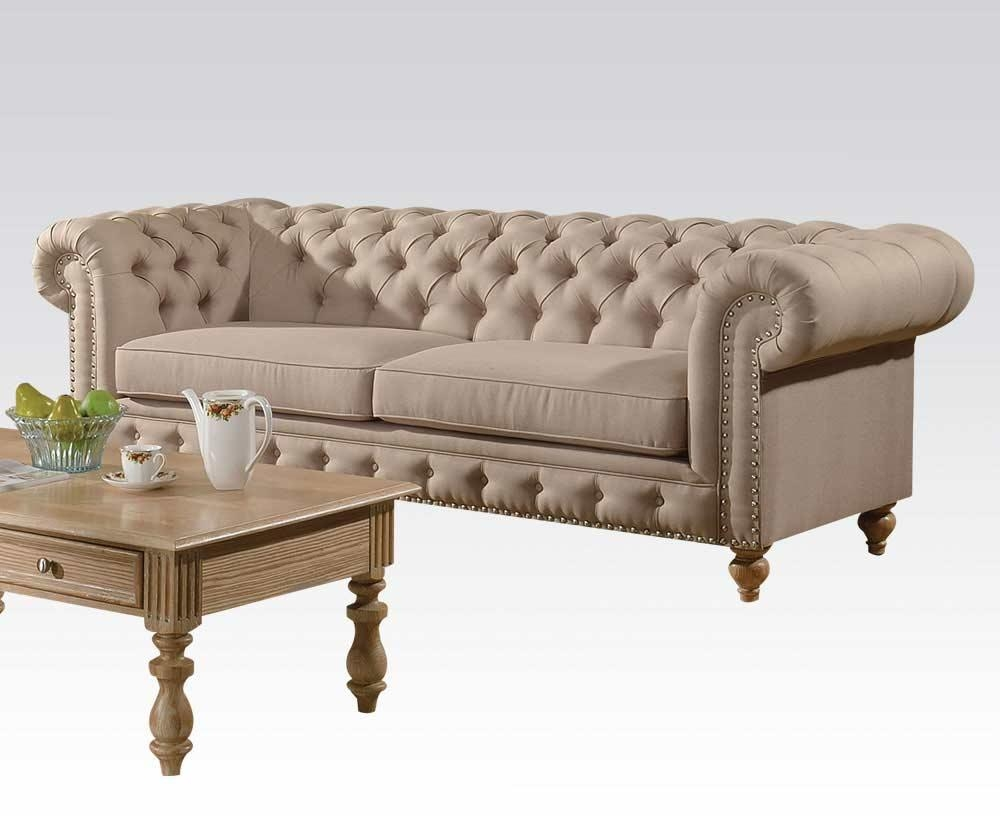 Fabric Beige Sofa Ac Semadara | Traditional Sofas With Regard To Beige Sofas (Image 7 of 20)