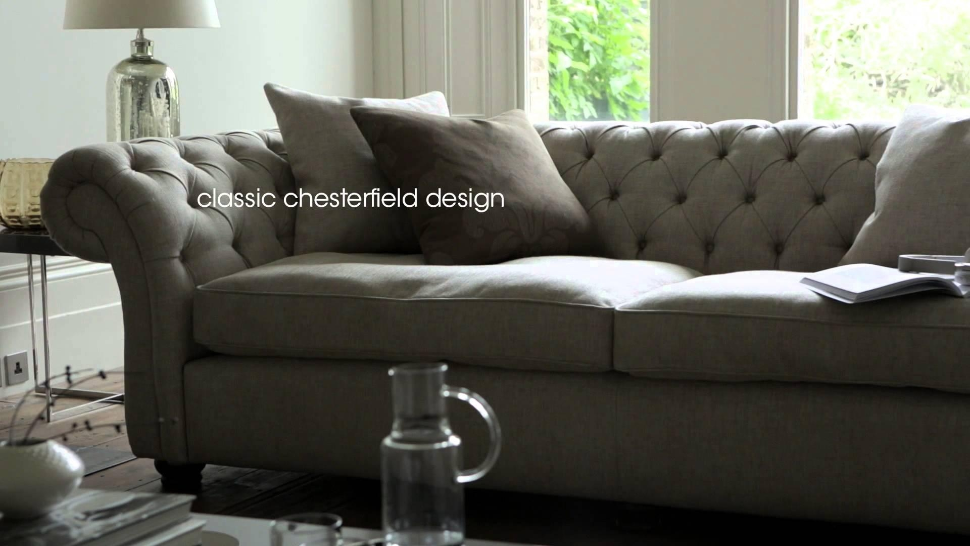 Fabric Chesterfield Sofas & Chairs – Langham Sofas & Furniture Intended For Chesterfield Sofas And Chairs (Image 12 of 20)