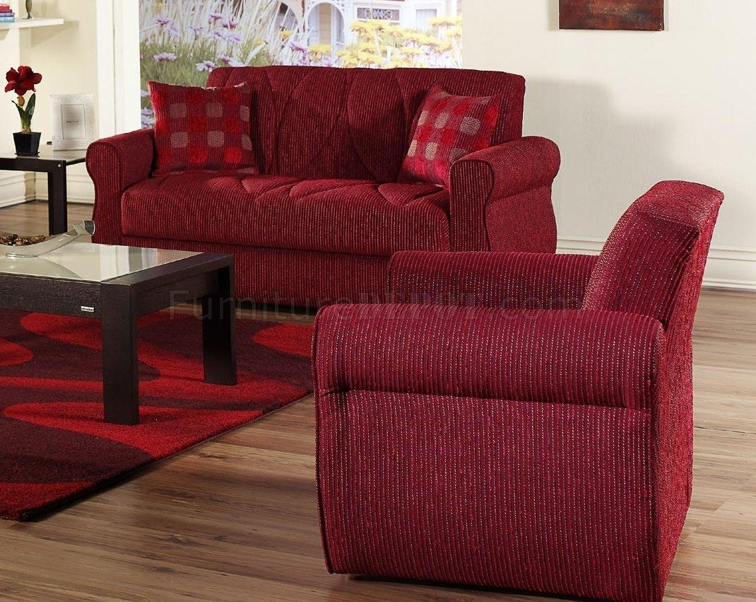 Fabric Contemporary Living Room Sleeper Sofa W/storage With Red Sleeper Sofa (View 5 of 20)