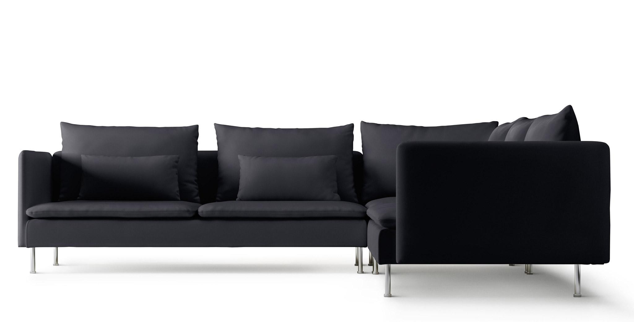 Fabric Corner Sofas | Ikea Intended For Black Corner Sofas (Image 11 of 20)