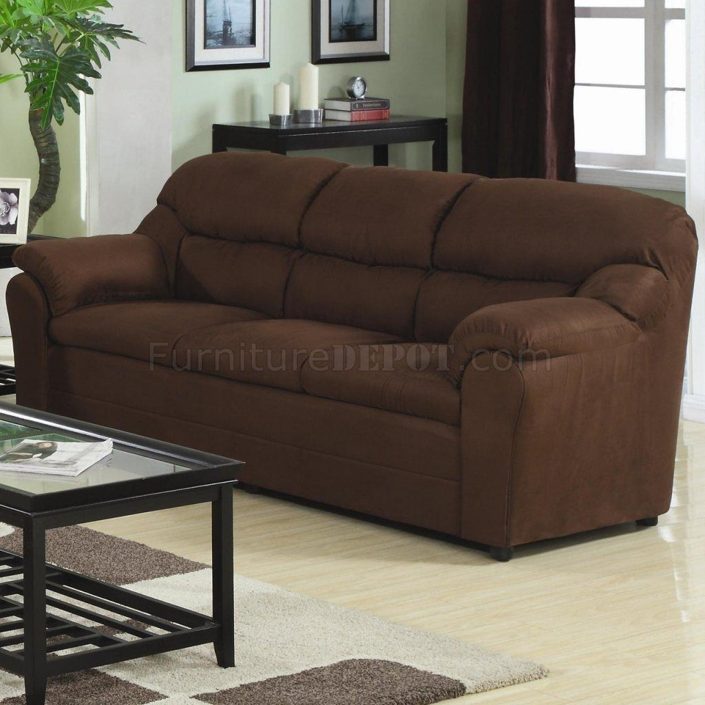 Fabric Modern 3Pc Sofa Set W/pillow Padded Arms Inside Green Microfiber Sofas (Image 2 of 20)