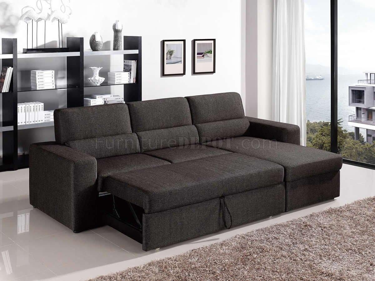 Fabric Modern Convertible Sectional Sofa W/storage In Sectional Sofa With Storage (Image 4 of 20)
