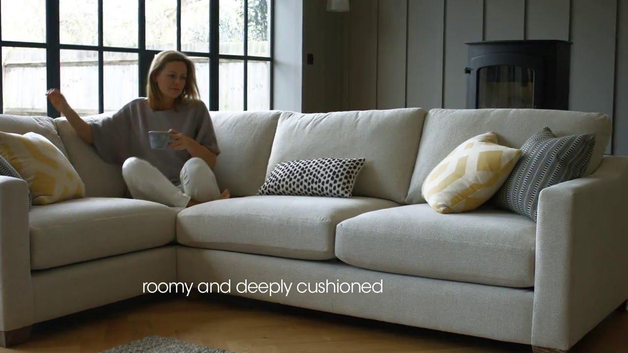 Fabric Modular Corner Sofa – Ambrose | Furniture Village – Youtube With Corner Sofa Chairs (View 16 of 20)