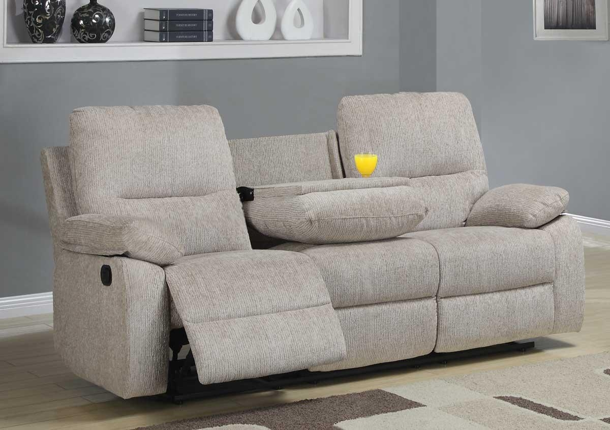 Fabric Recliner Sofas 36 With Fabric Recliner Sofas | Jinanhongyu Inside Sofas With Drink Holder (Image 8 of 20)