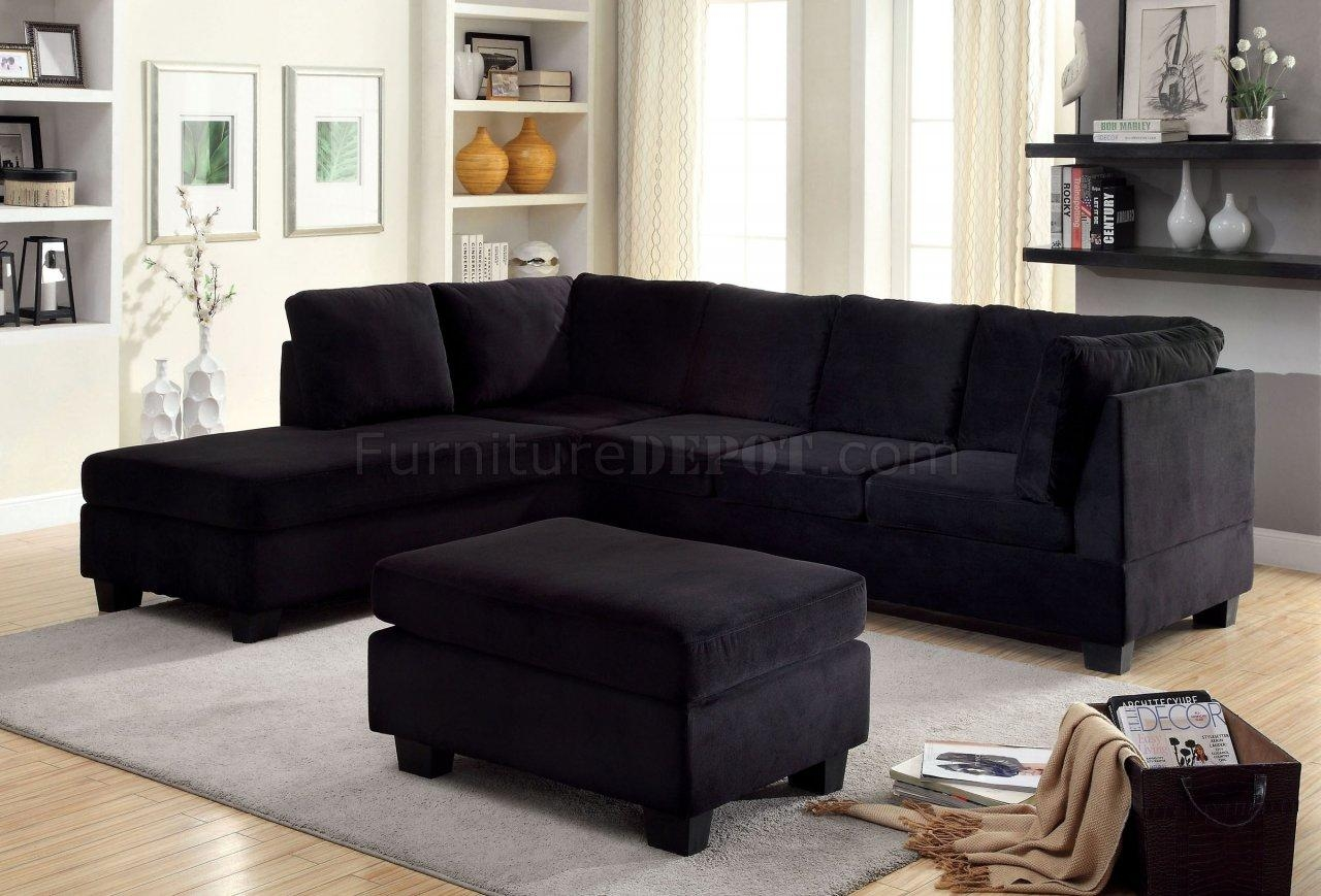 Fabric Sectionals – Microfiber Sectional Sofas, Microsuede With Black Fabric Sectional (Image 10 of 15)