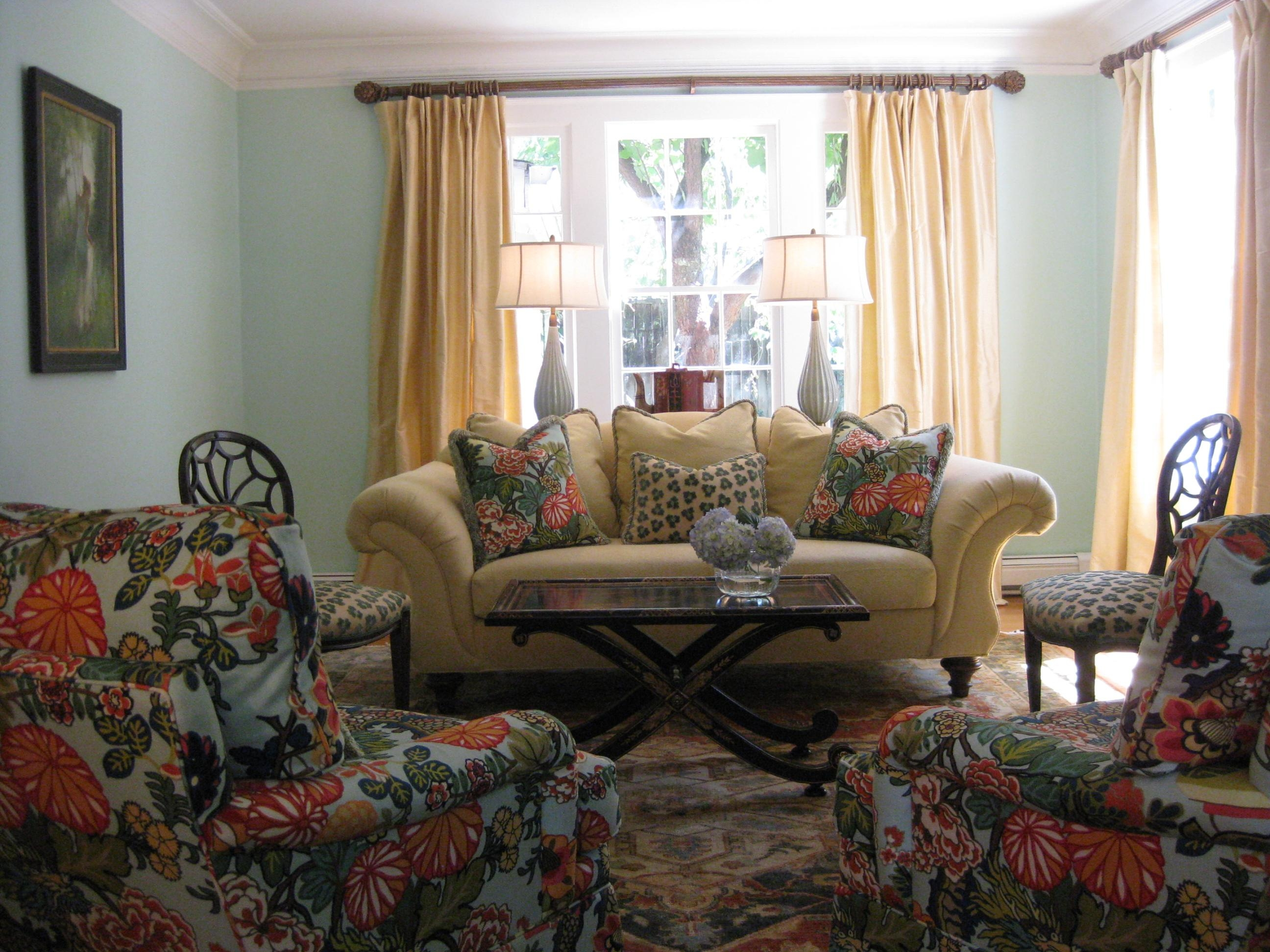 Fabric Sofa Styles Intended For Floral Sofas And Chairs (Image 9 of 20)