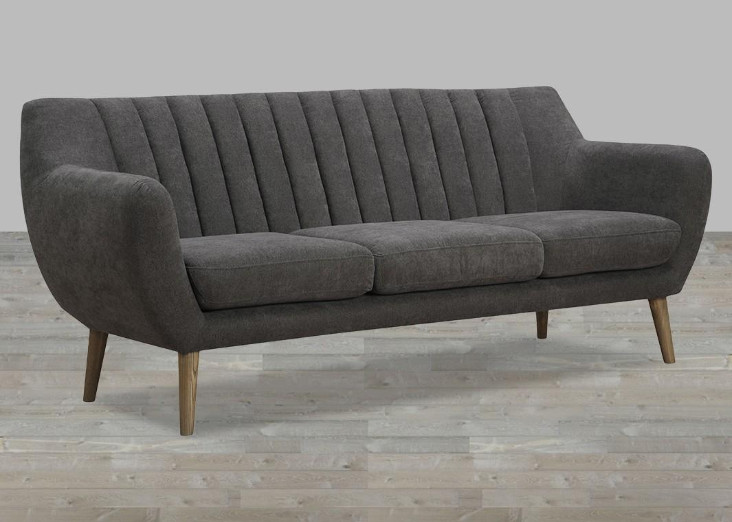 Fabric Sofa With Quilted Back Pertaining To Fabric Sofas (Image 5 of 20)