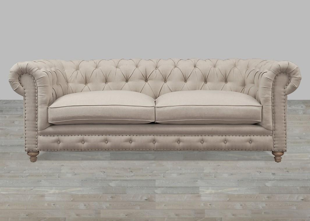 Fabric Sofas, Buy Fabric Sofas, Living Room Fabric Sofas – Silver With Regard To Silver Tufted Sofas (Image 7 of 20)