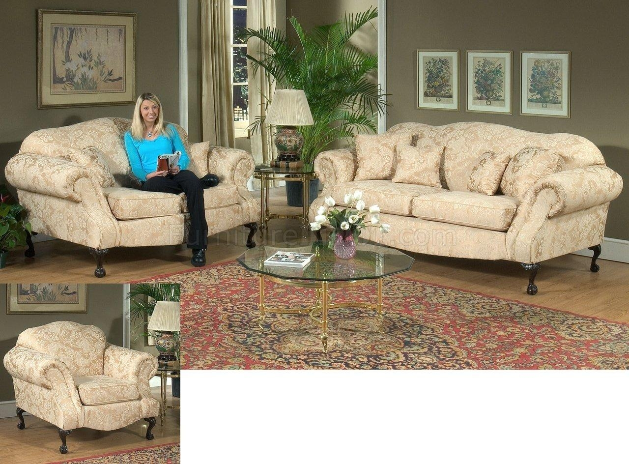 Fabric Traditional Sofa & Loveseat Set W/optional Chair With Traditional Sofas And Chairs (Image 3 of 20)