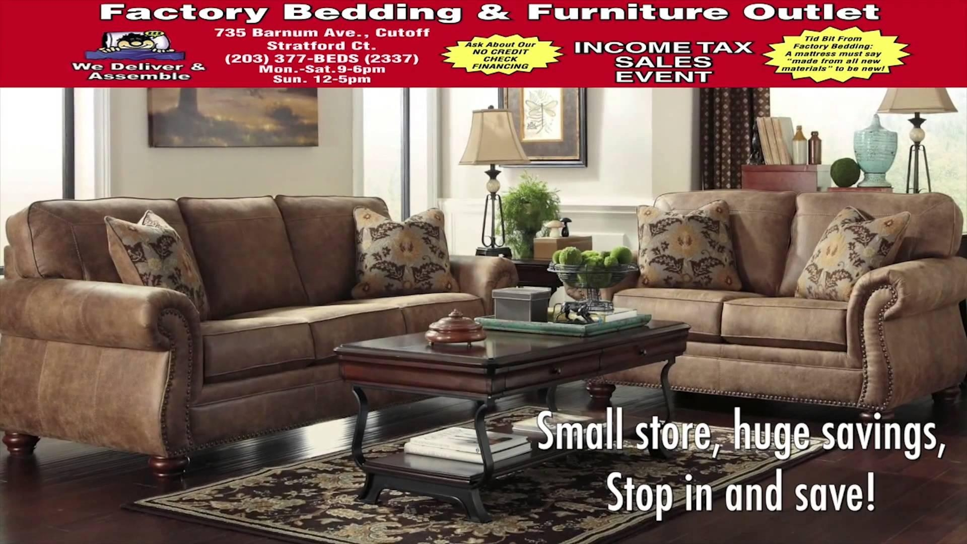 Factory Bedding And Furniture Outlet Stratford, Ct – Youtube With Regard To Stratford Sofas (View 6 of 20)