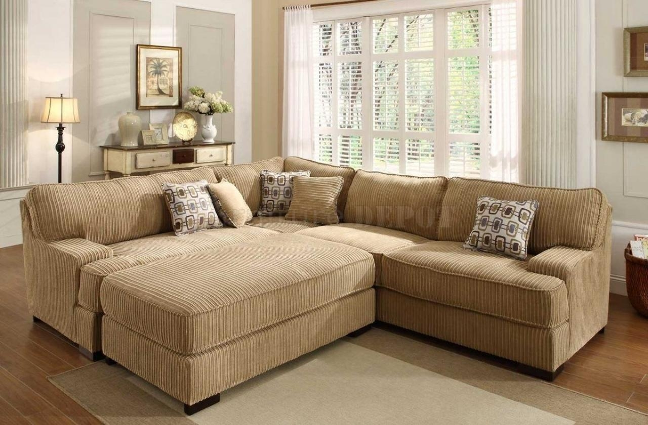 Fantastic Sectional Sofa With Oversized Ottoman – Sectional Sofas Throughout Oversized Sectional (Image 2 of 20)