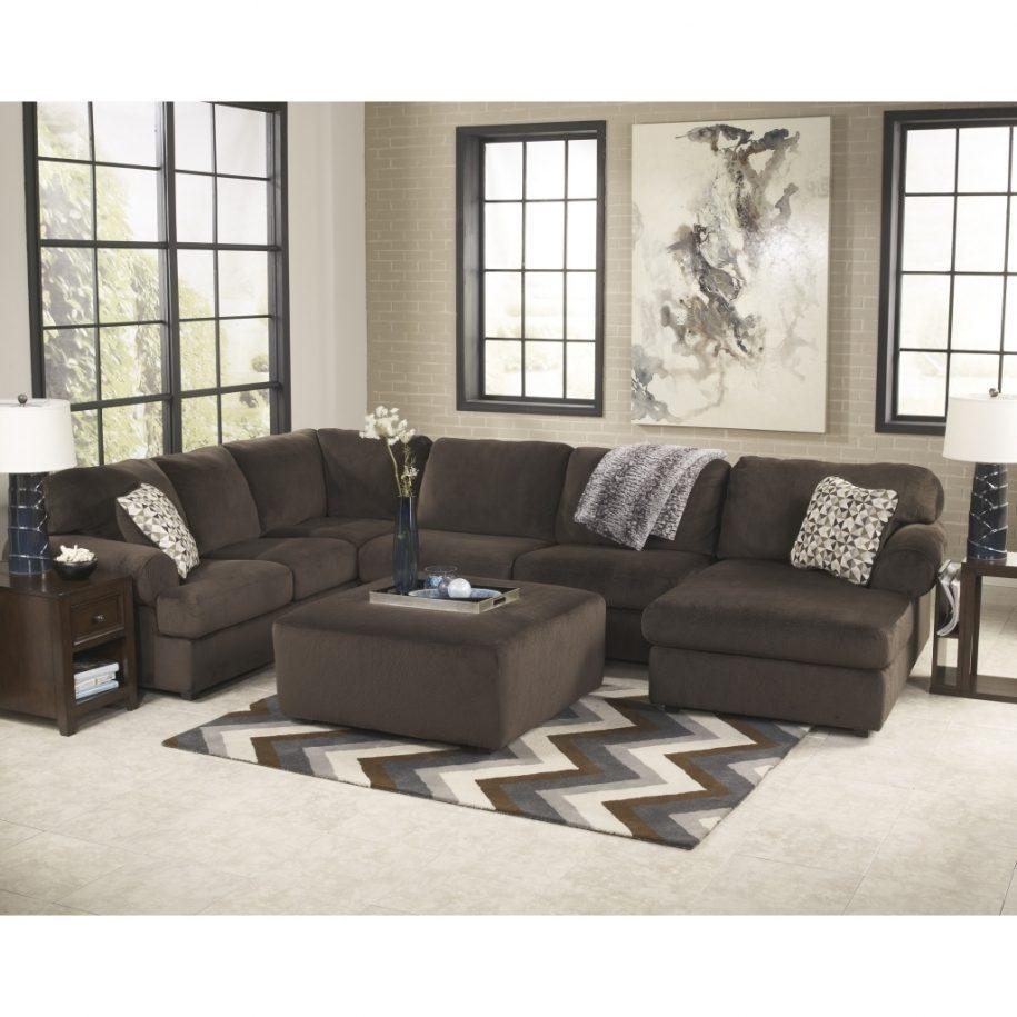 Fantastic Sectional With Oversized Ottoman | Verambelles For Sectional With Oversized Ottoman (View 19 of 20)