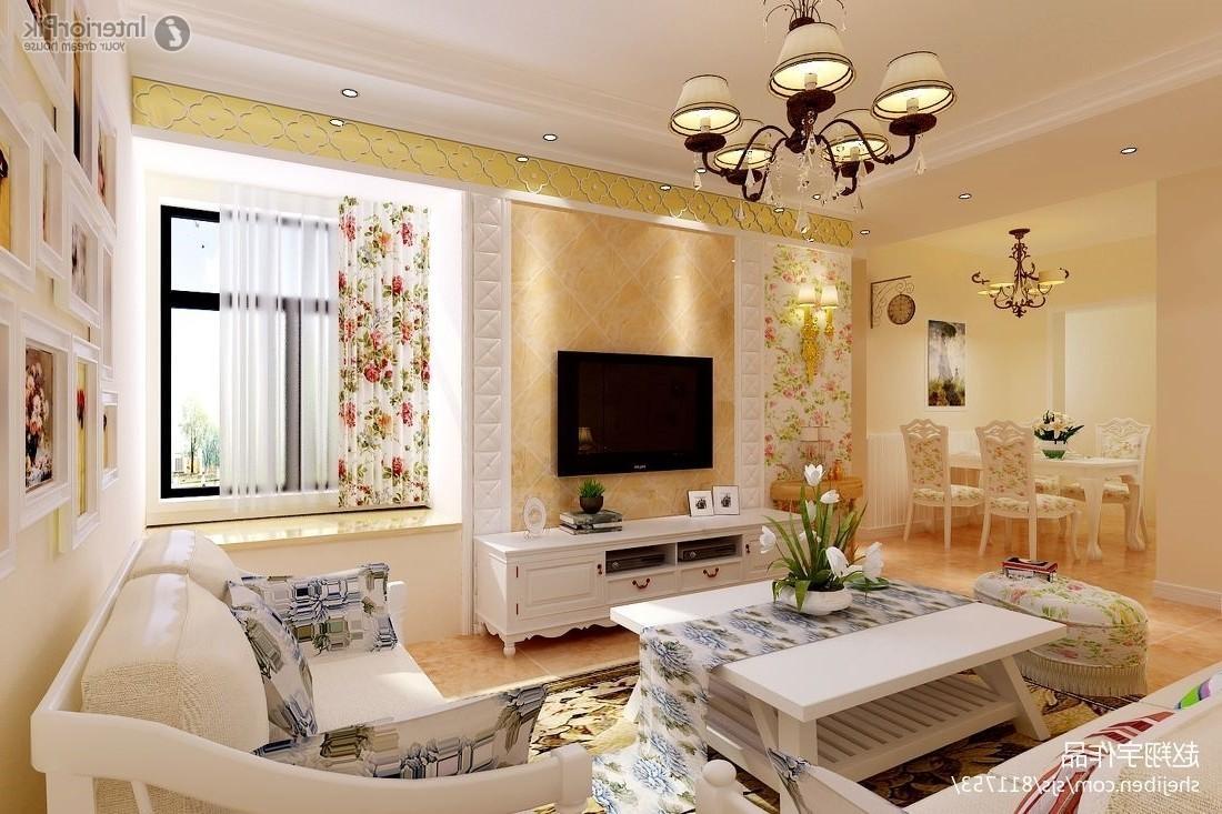 Farmhouse Living Room Furniture White Curtains Brown Carpet Floor Regarding Window Sofas (Image 6 of 20)