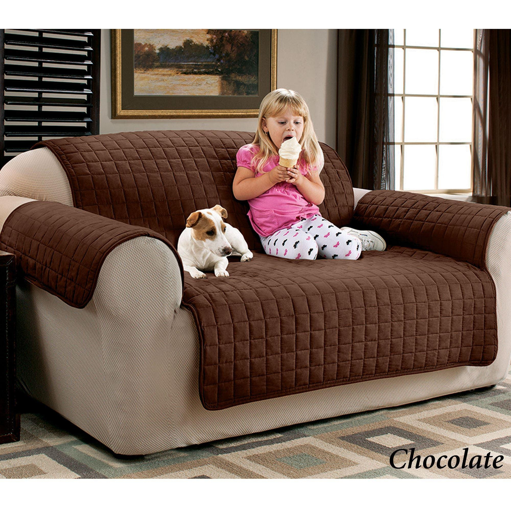 Faux Suede Pet Furniture Covers For Sofas, Loveseats, And Chairs Pertaining To Dog Sofas And Chairs (View 6 of 20)