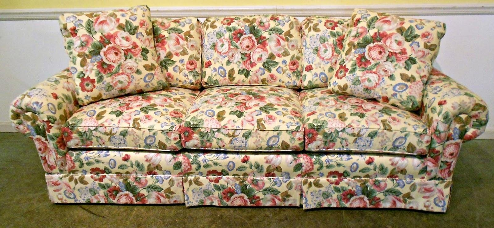 Favorite Floral Fabric Round Up | Restyle It Wright Within Floral Sofas (View 11 of 20)