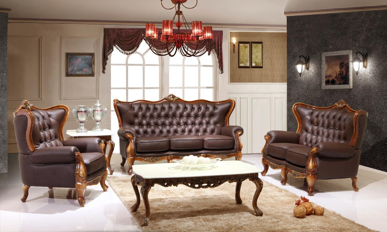 Featured Item – Leather Victorian Living Room 995 | Victorian Within Victorian Leather Sofas (View 7 of 20)