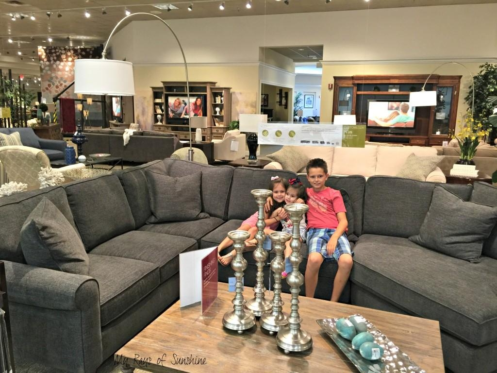 Finding A Family Friendly Sectional Couch – My Rays Of Sunshine Throughout Havertys Leather Sectional (Image 1 of 15)