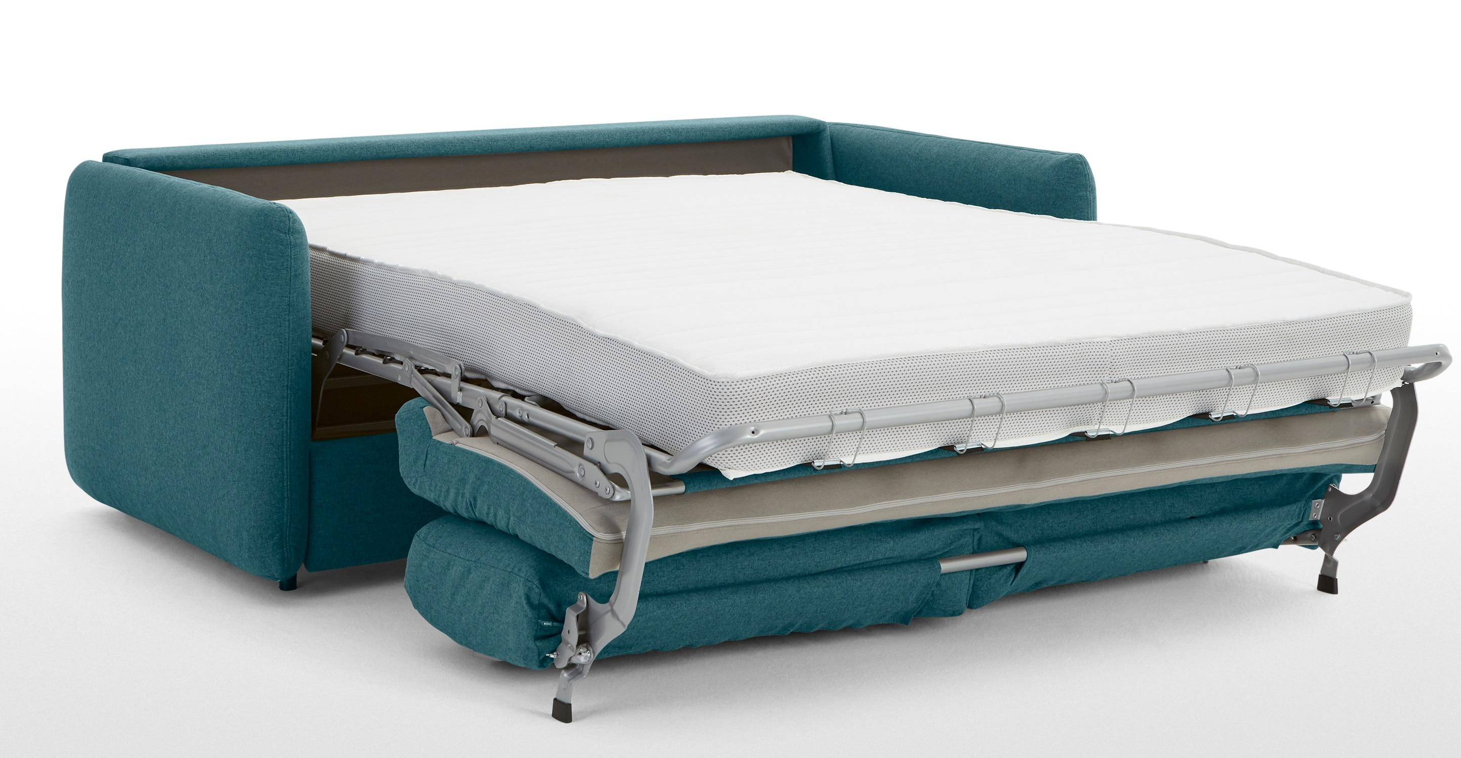 Fletcher 3 Seater Sofa Bed With Pocket Sprung Mattress, Mineral Throughout Aqua Sofa Beds (Image 9 of 20)