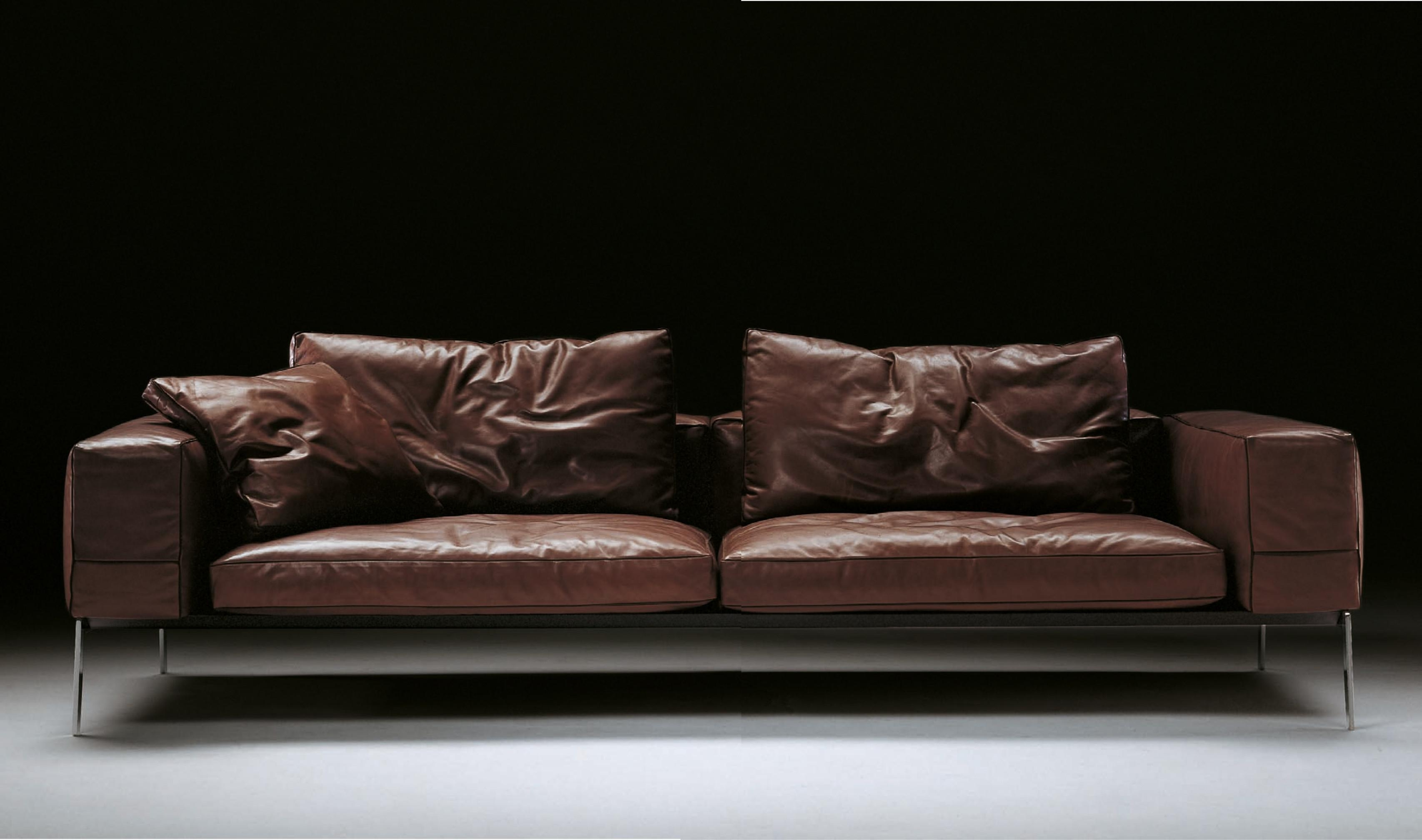Flexform Lifesteel Sofa – Flexform Furniture – Leather Sofas Throughout Flexform Sofas (Image 7 of 20)