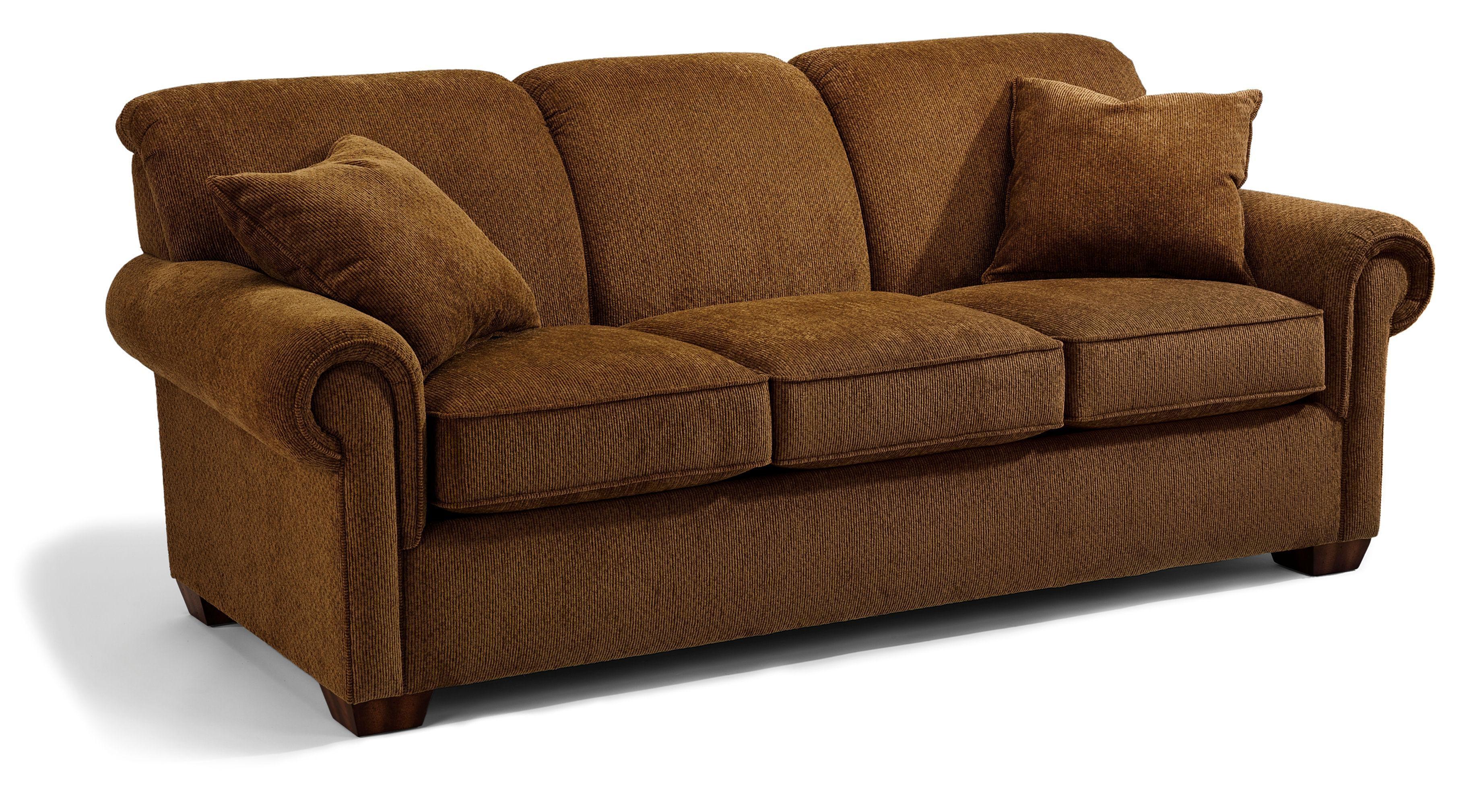 Flexsteel Main Street Rolled Arm Queen Sofa Sleeper – Dunk Throughout Queen Sofa Beds (Image 6 of 20)