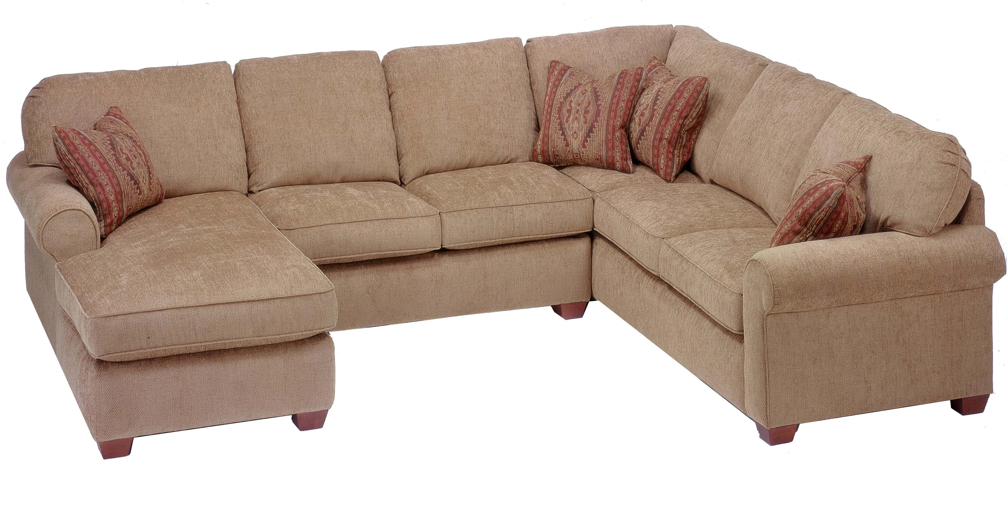 Flexsteel Thornton 3 Piece Sectional With Chaise – Rooms And Rest Regarding Alan White Couches (View 8 of 20)