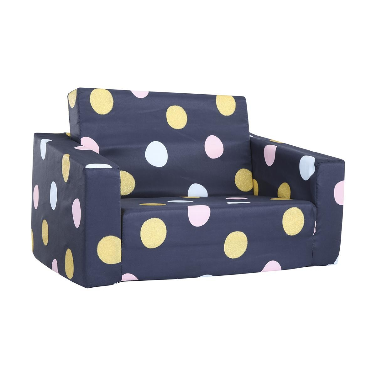 Flipout Sofa – Blue With Spots | Kmart Pertaining To Flip Out Sofa For Kids (Image 4 of 20)
