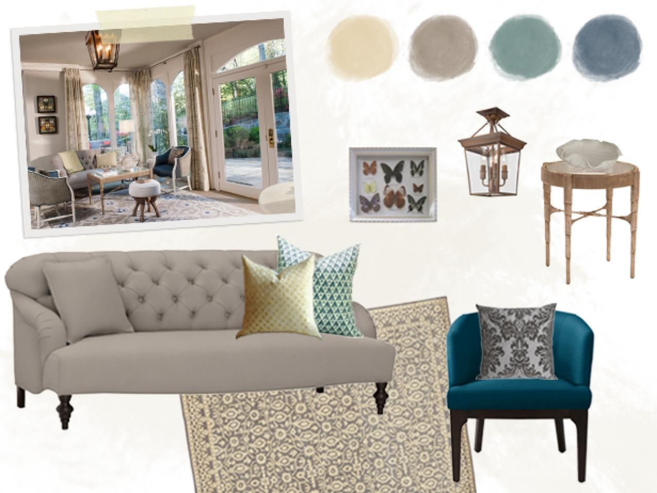 Floor Planning A Small Living Room | Hgtv With Small Lounge Sofas (Image 8 of 20)