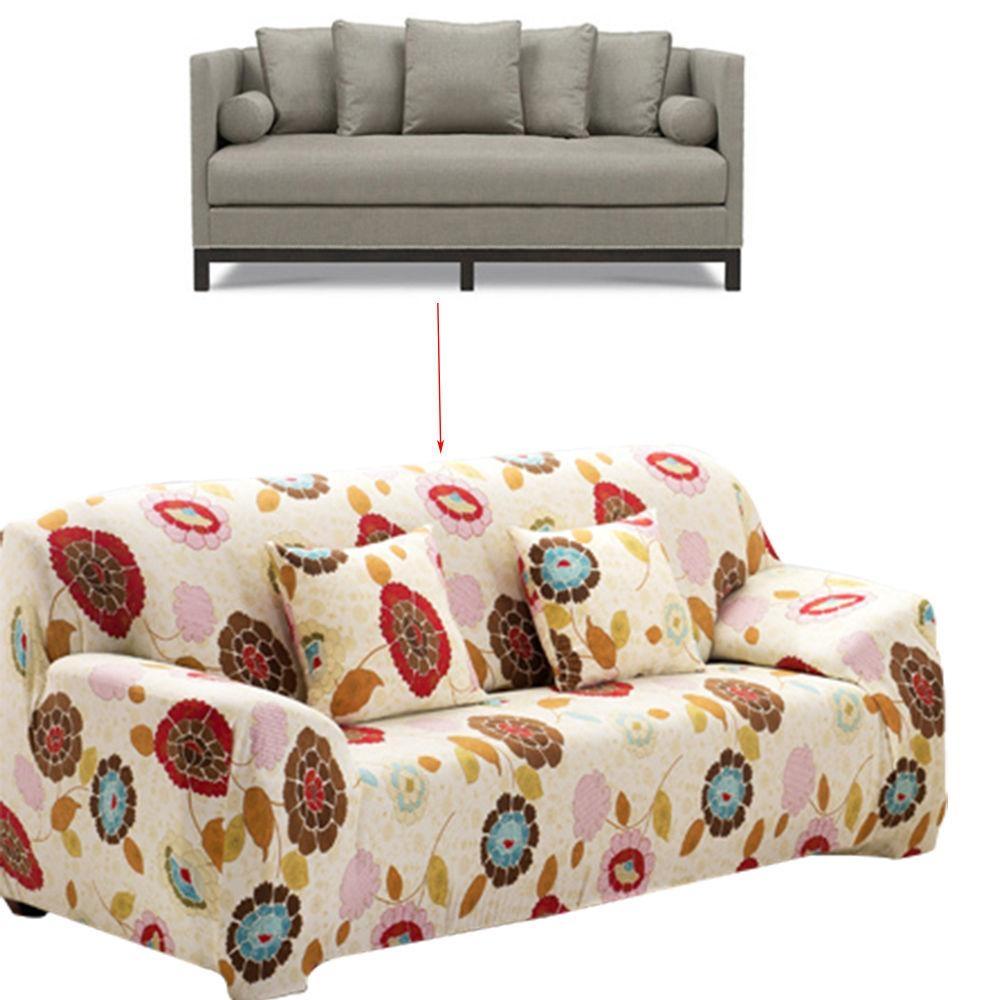 Floral Sofa Slipcovers | Sofa Gallery | Kengire Pertaining To Floral Sofa Slipcovers (Image 5 of 20)